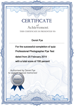 The Professional Photographer Pye Test // Derek Pye The World\'s ...